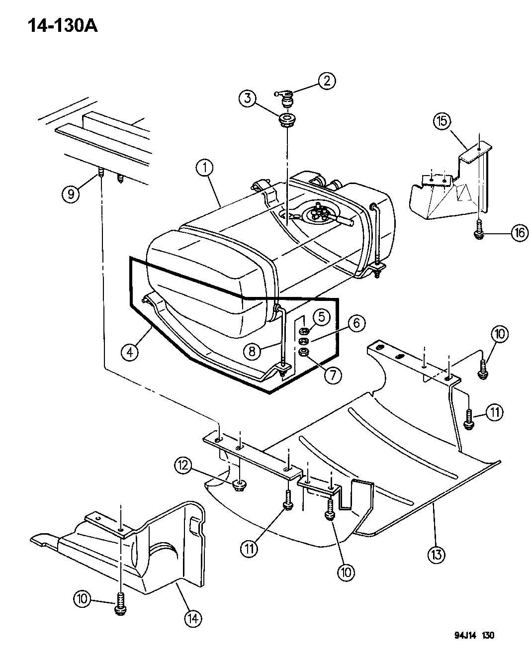 Jeep Cherokee Valve Fuel Tank Rollover Safety Body Filler Tube