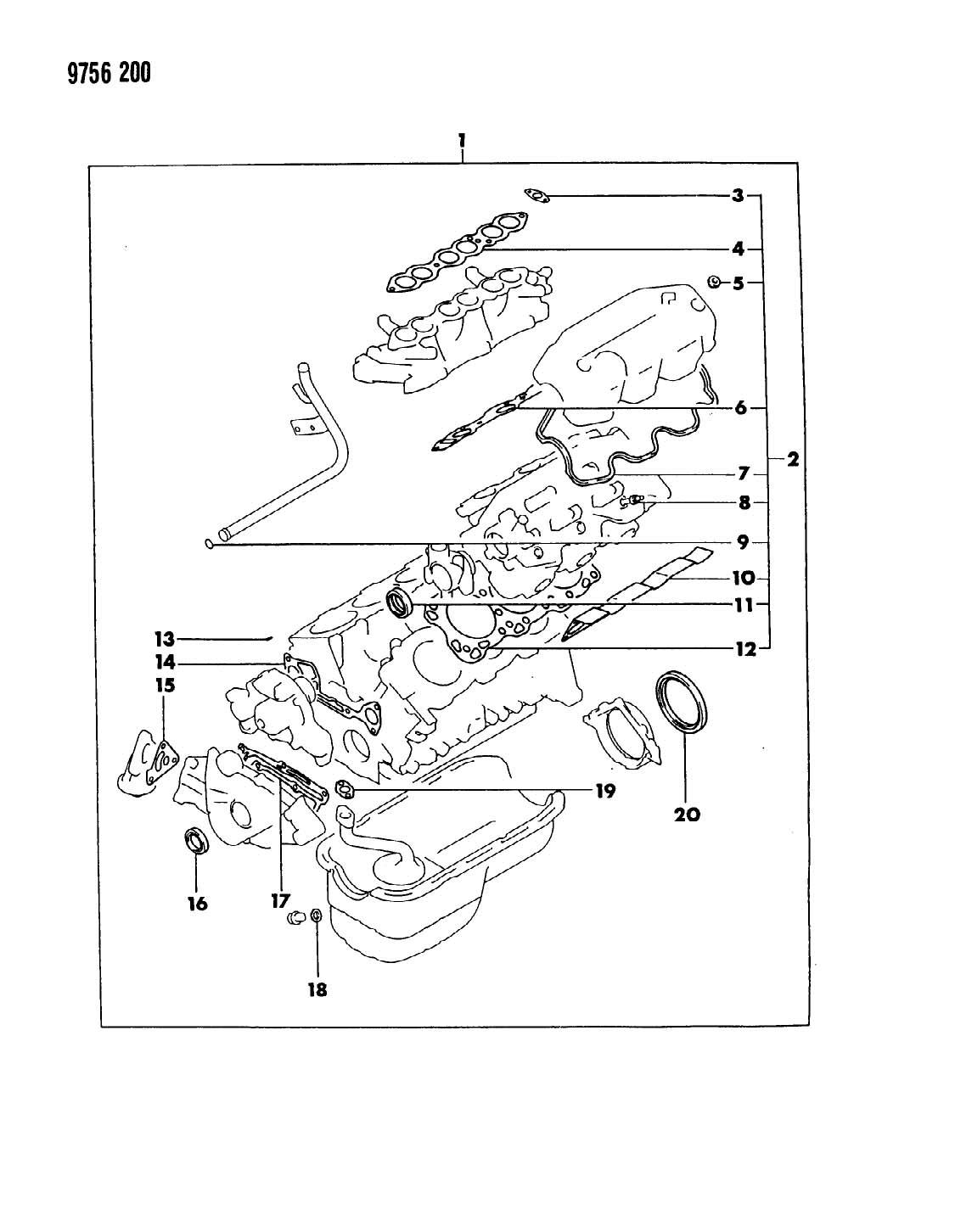 Chrysler Grand Voyager Seal Crankshaft Oil Front