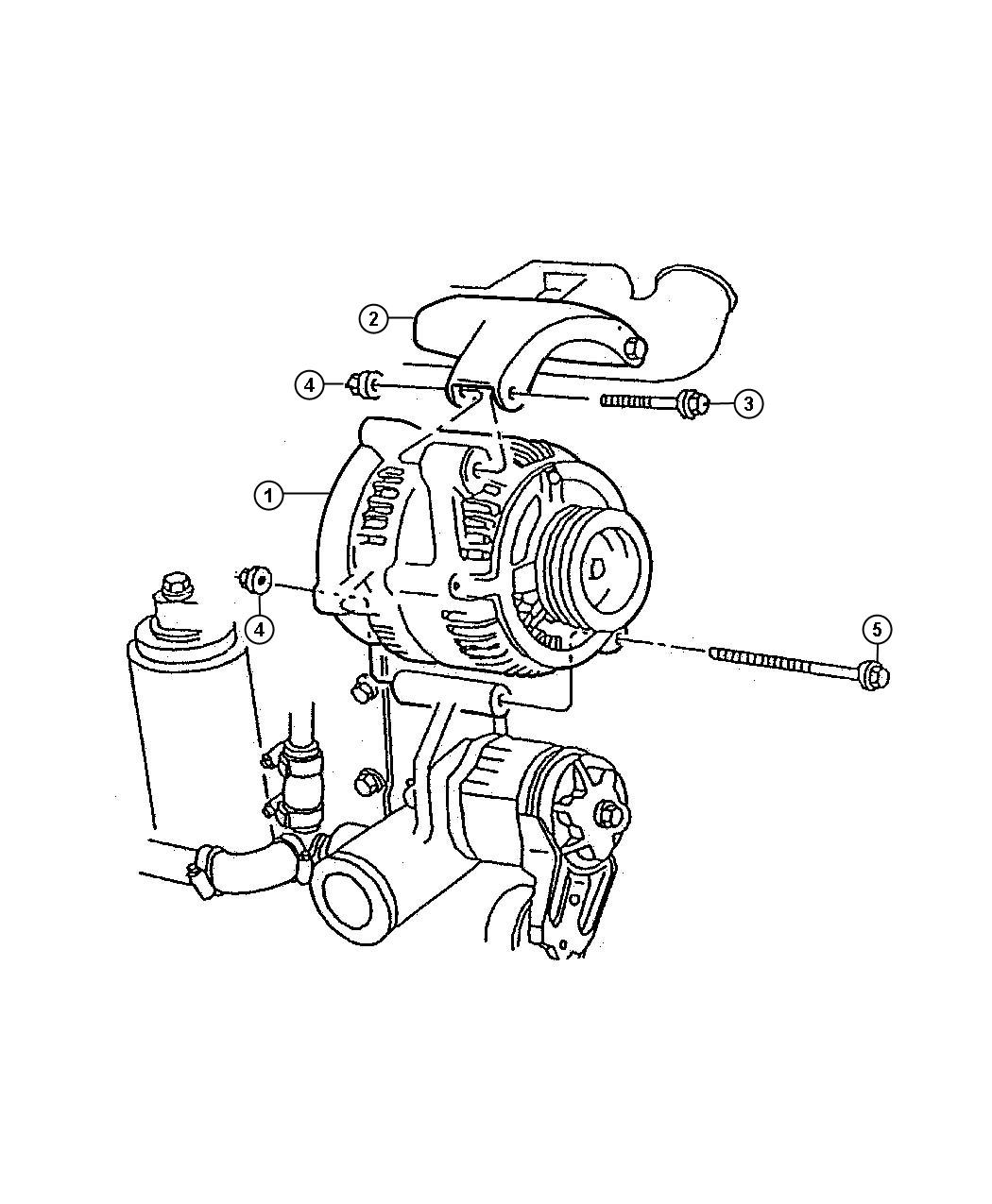 Dodge Generator Engine 120 Amp Alternator