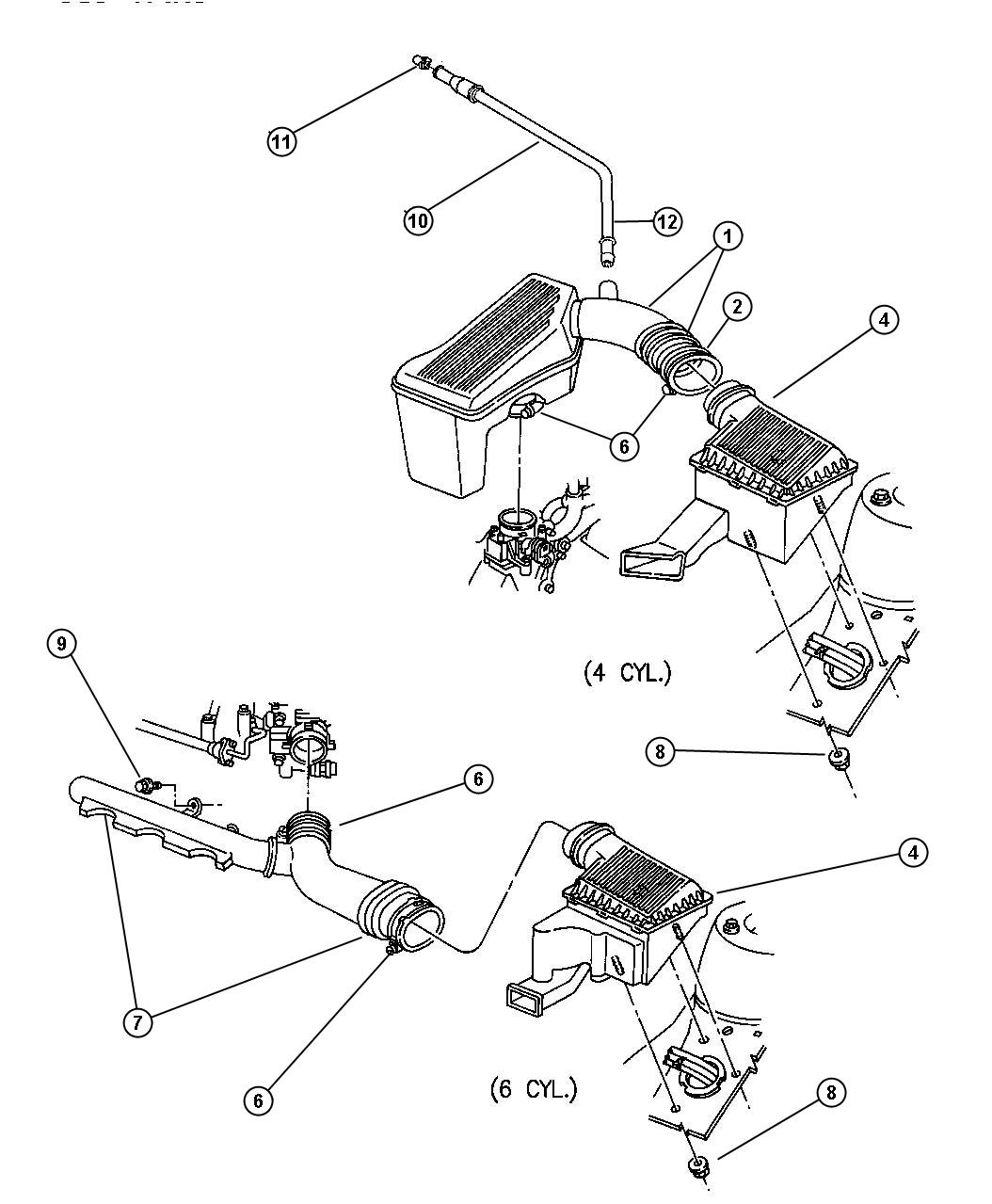 Jeep Patriot Hose Pcv Tube Valve Cover To Resonator Crankcase Cleaner Air