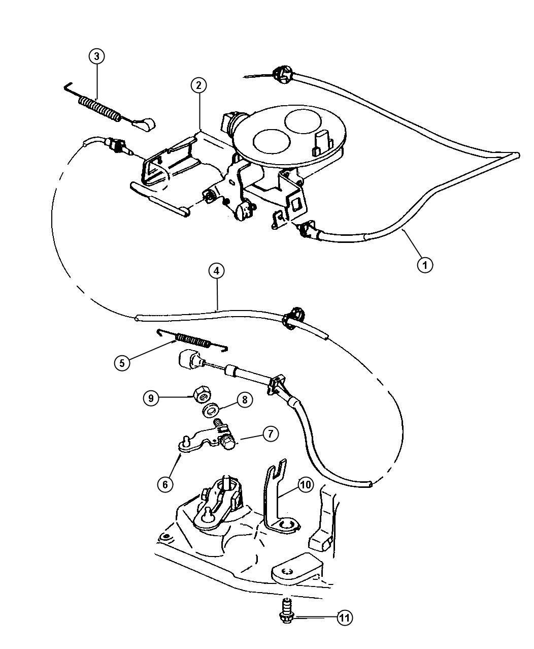 Dodge Dakota Cable Throttle Valve Controls Body Engine