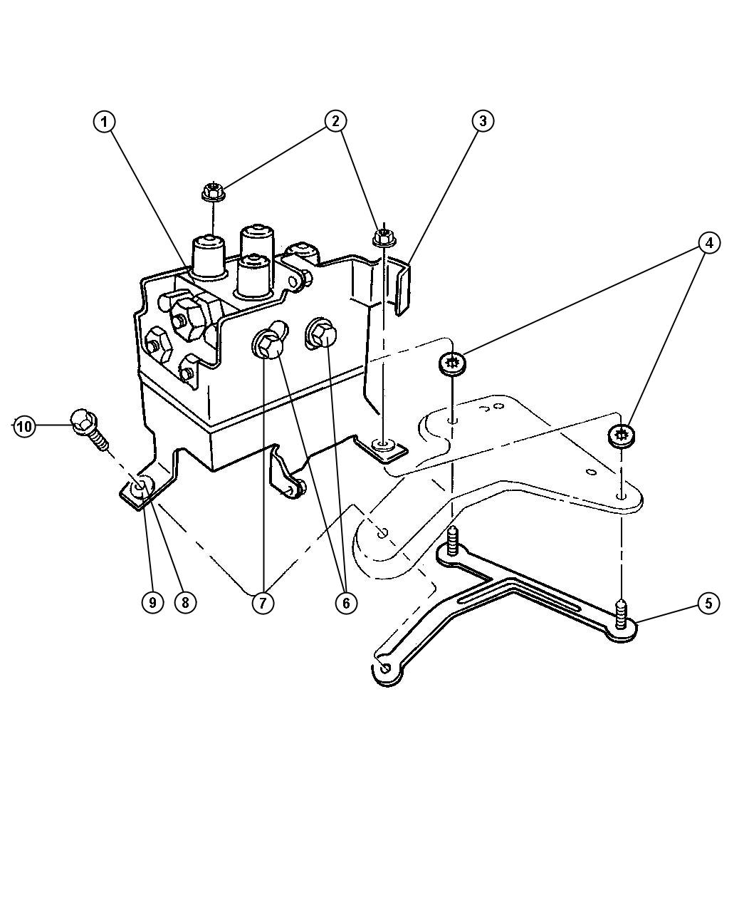 Dodge Hydraulic Control Unit Anti Lock Brake System
