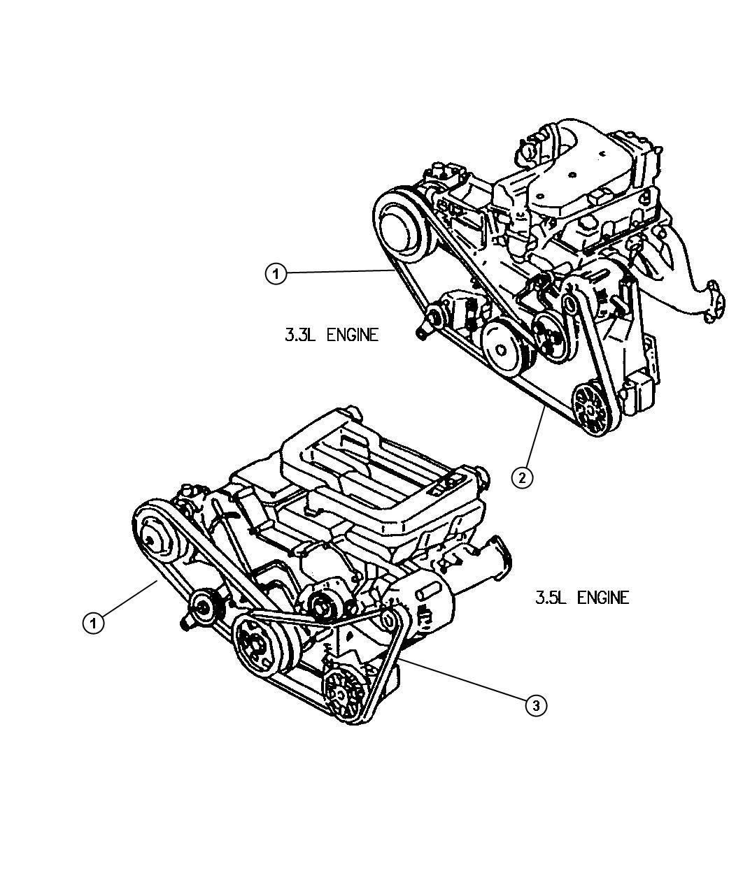 Dodge Intrepid Belt A C Compressor A C Compressor Drive