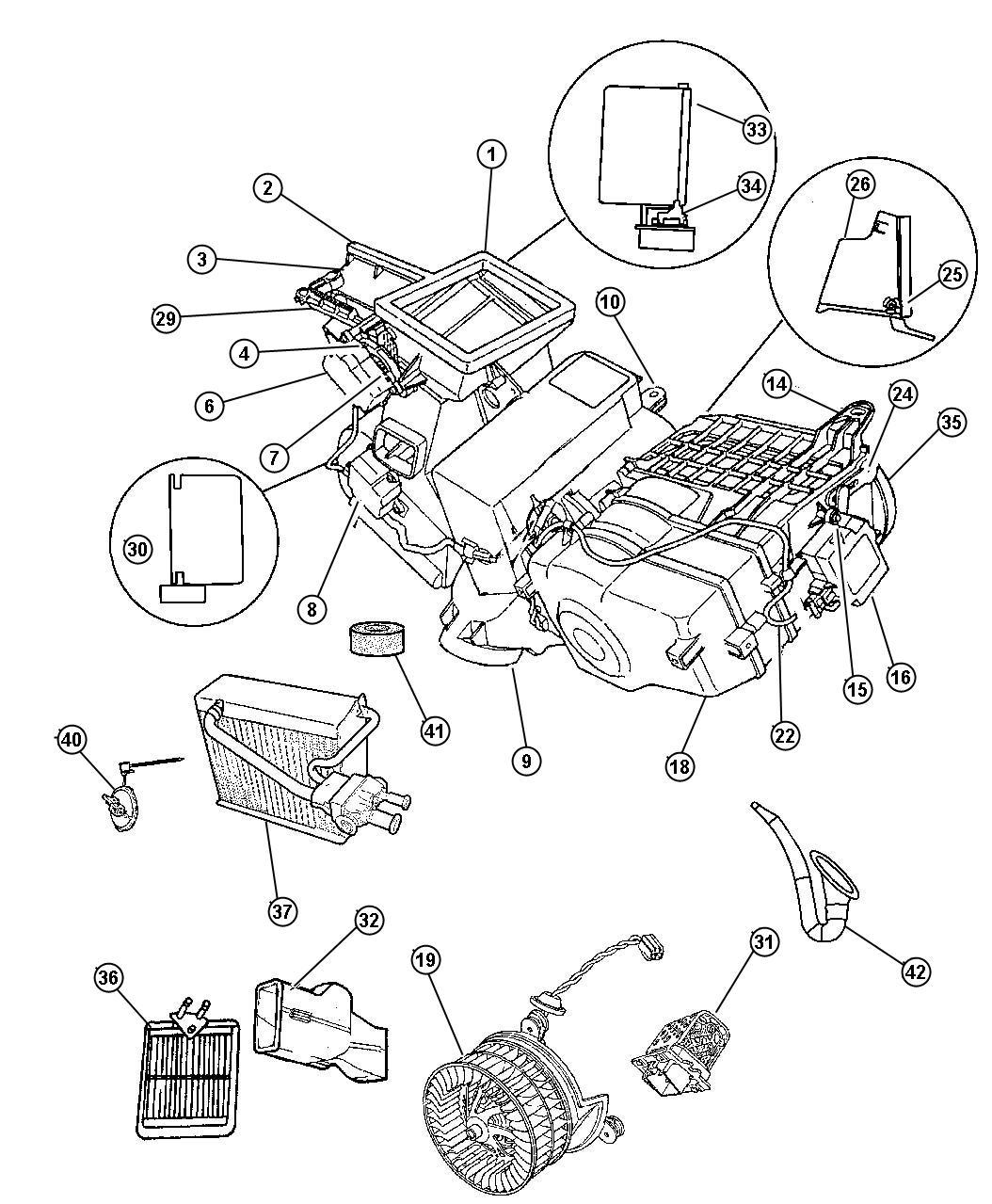 Dodge Intrepid Actuator Heater Blend Air Door