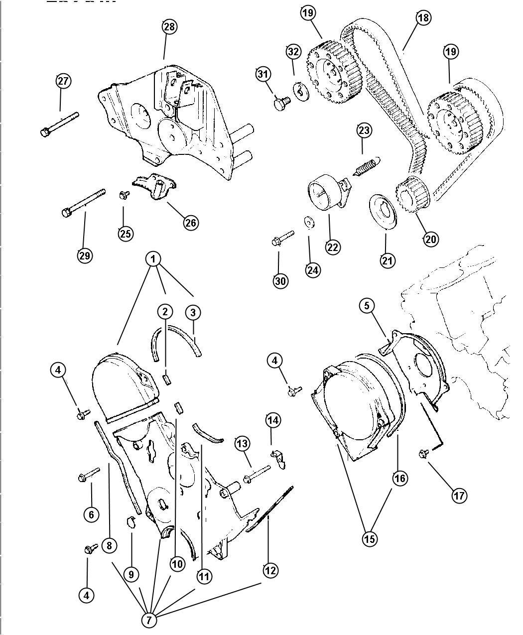 Dodge Grand Caravan Bolt Hex Flange Head M6x55 Engine