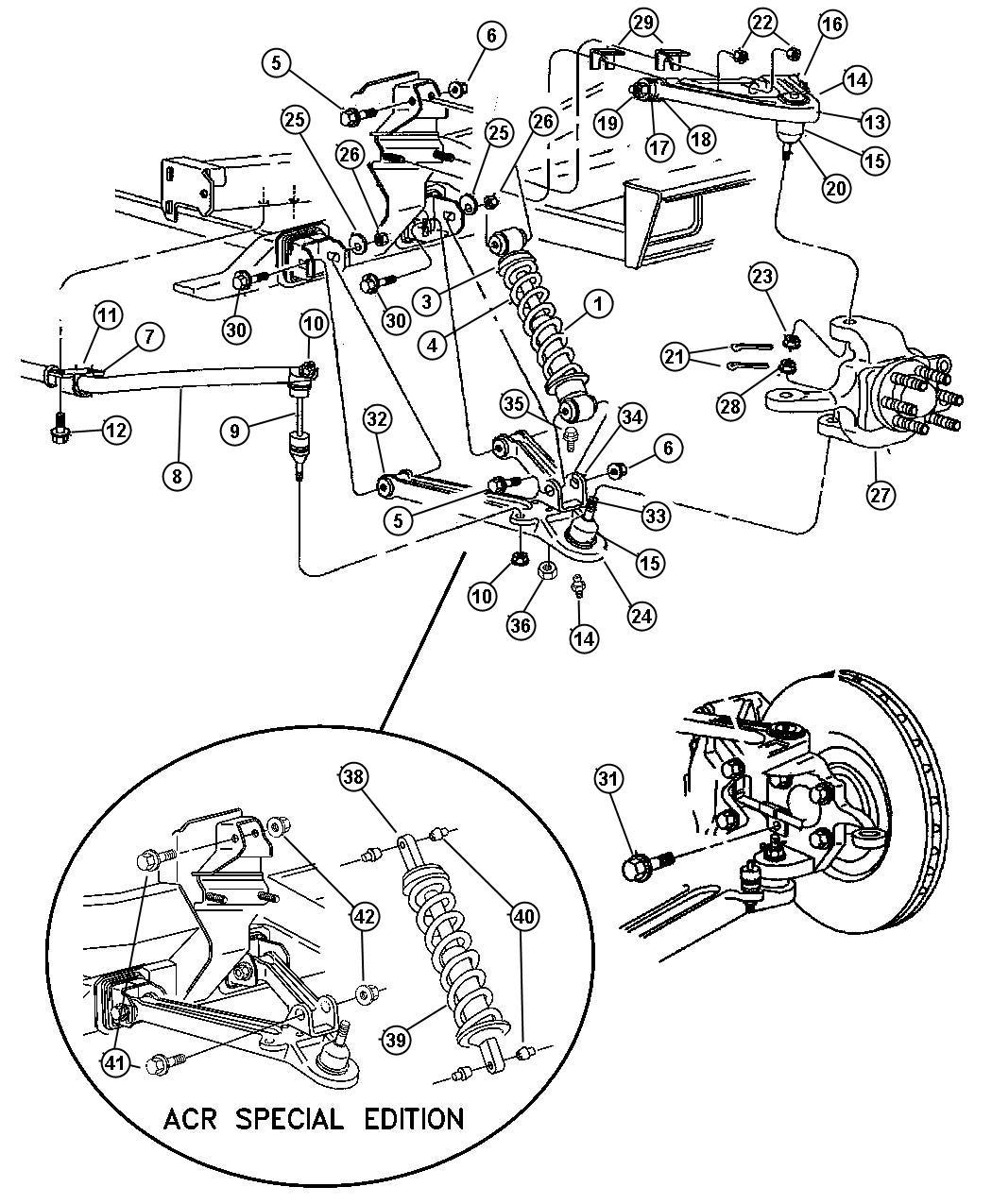 Chrysler Aspen Bracket Shock Mounting Right