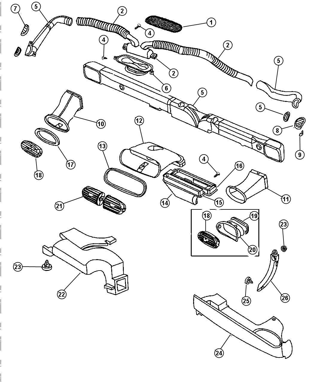 Chrysler Sebring Pin Plug A C Evaporator Push