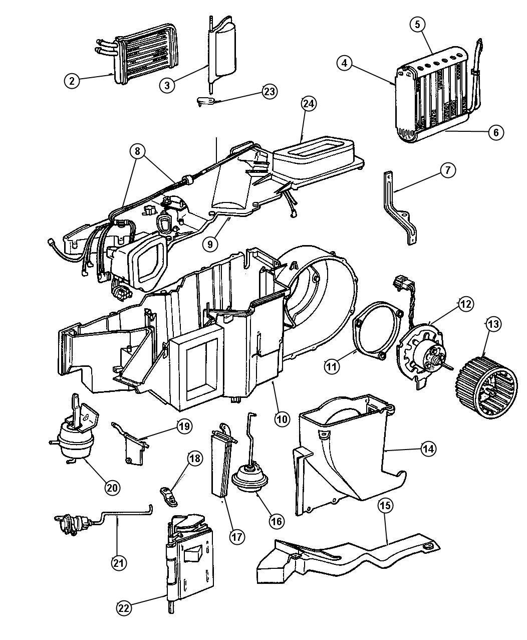 Chrysler Door Mode A C Mode W Seal Heater Mode Air Vehicles Conditioning