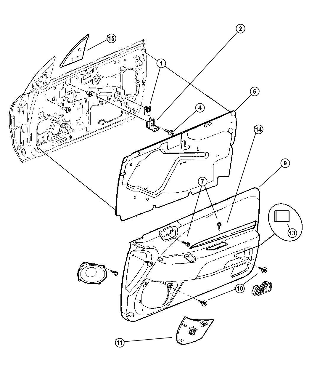 Chrysler Sebring Grille Speaker Right Trim All
