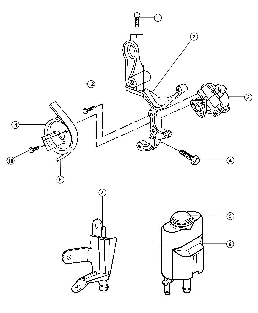 Chrysler Sebring Reservoir Power Steering Fluid Pumpsel