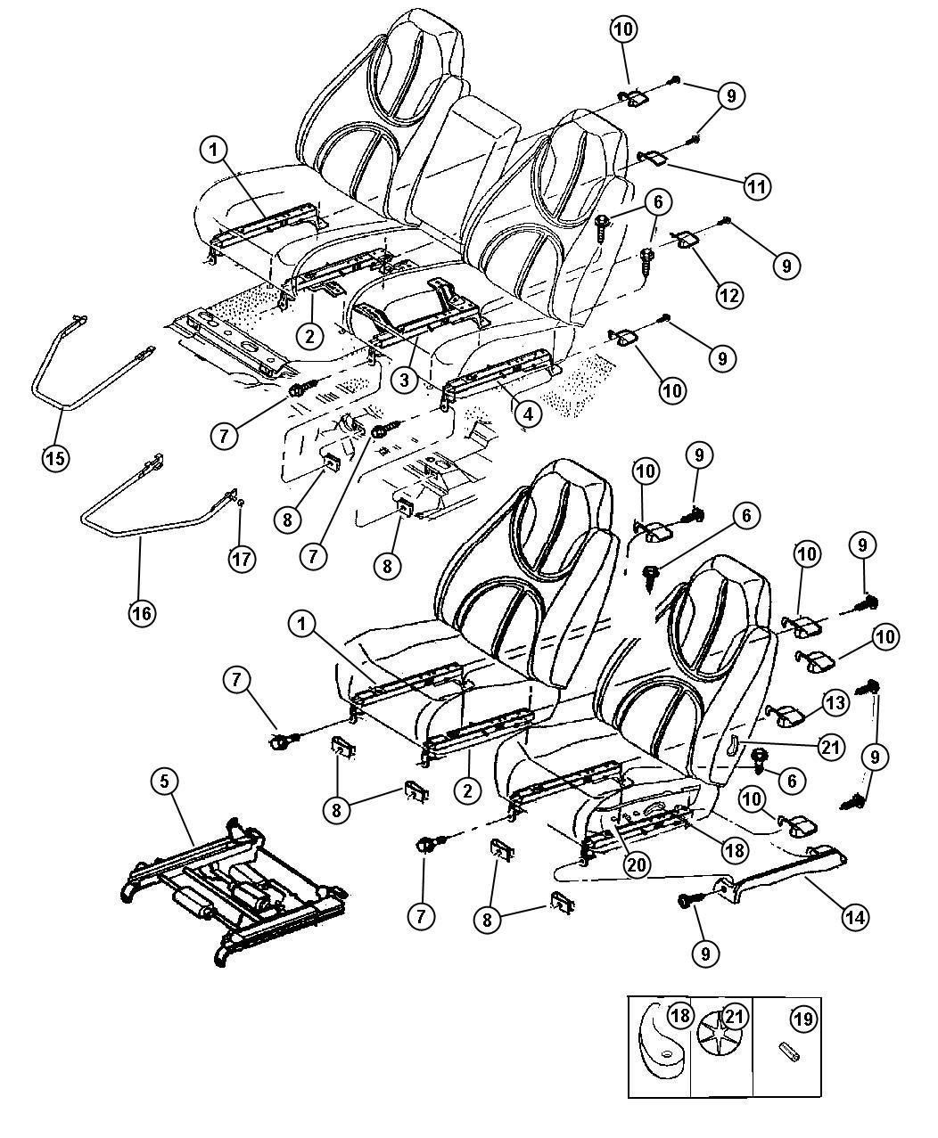 Dodge Durango Adjuster Driver Seat Power Trim