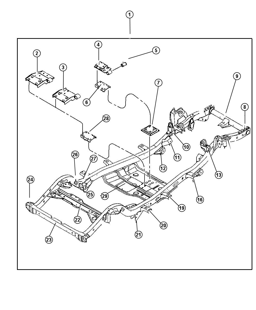 Jeep Wrangler Frame Chassis 4 0l Eng