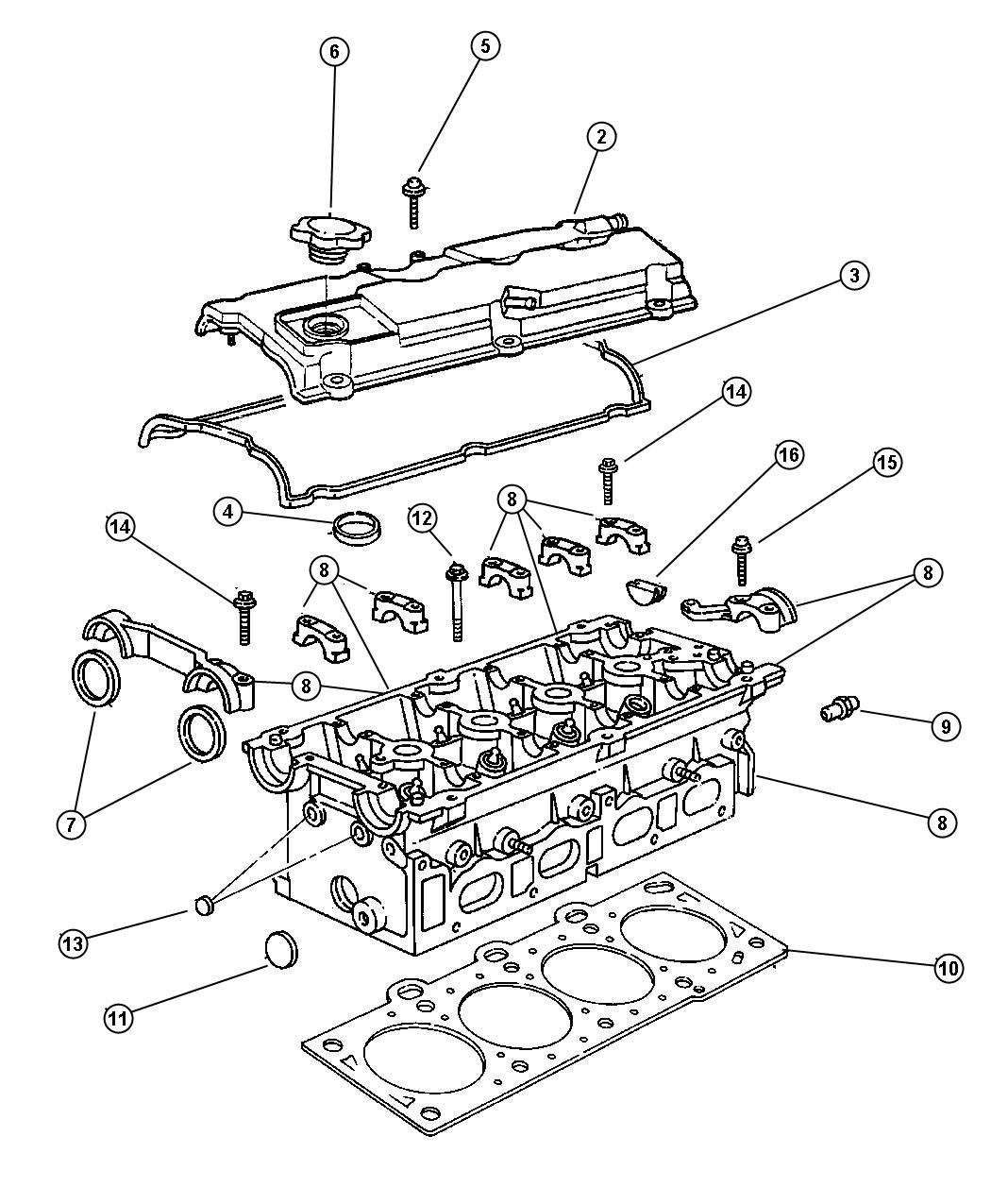 Chrysler Town Amp Country Gasket Valve Cover Head Cylinder Edz