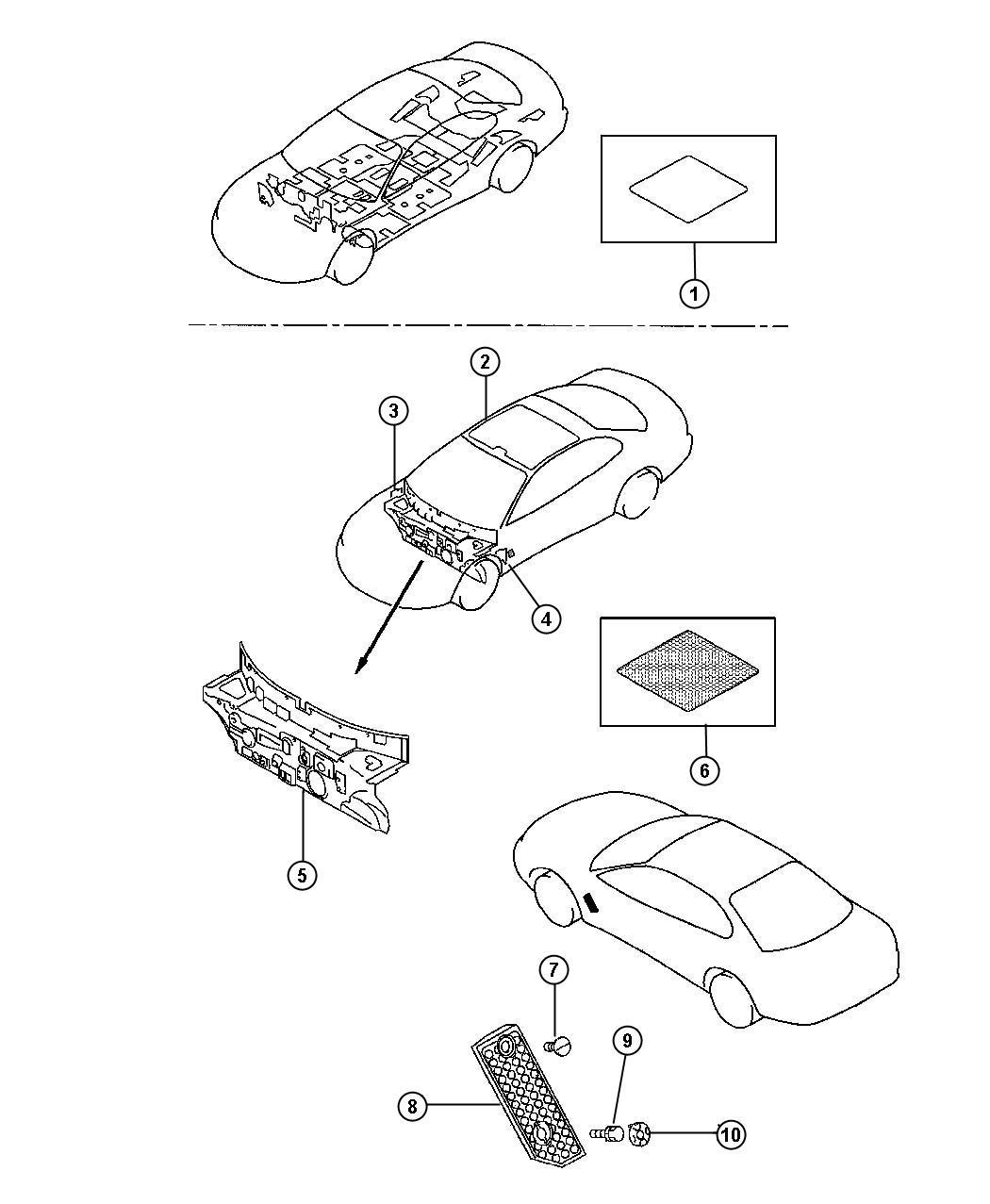 Dodge Avenger Pad Dash Panel Dash Silencers Rest