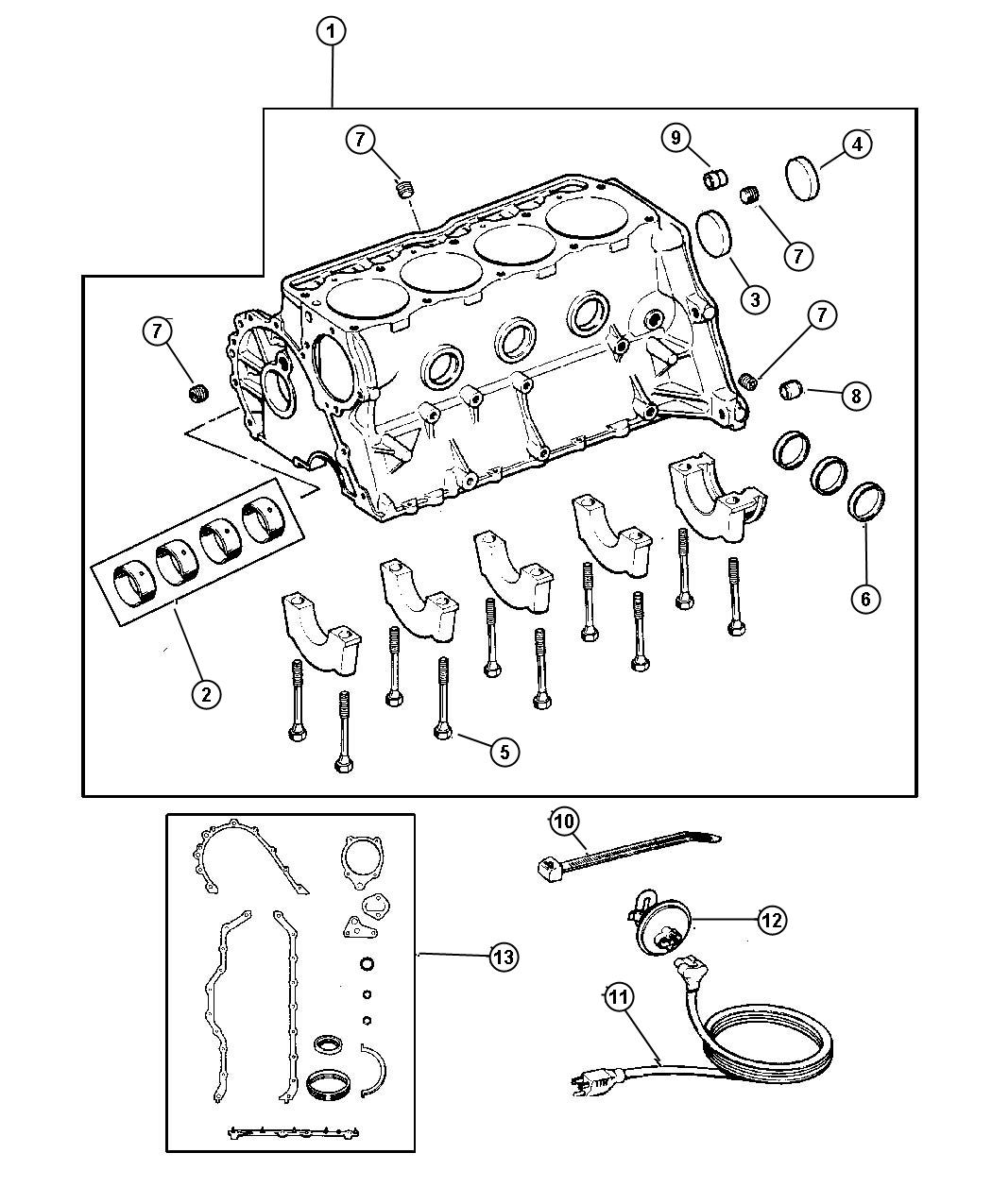 Chrysler Town Amp Country Heater Kit Engine Block Cylinder