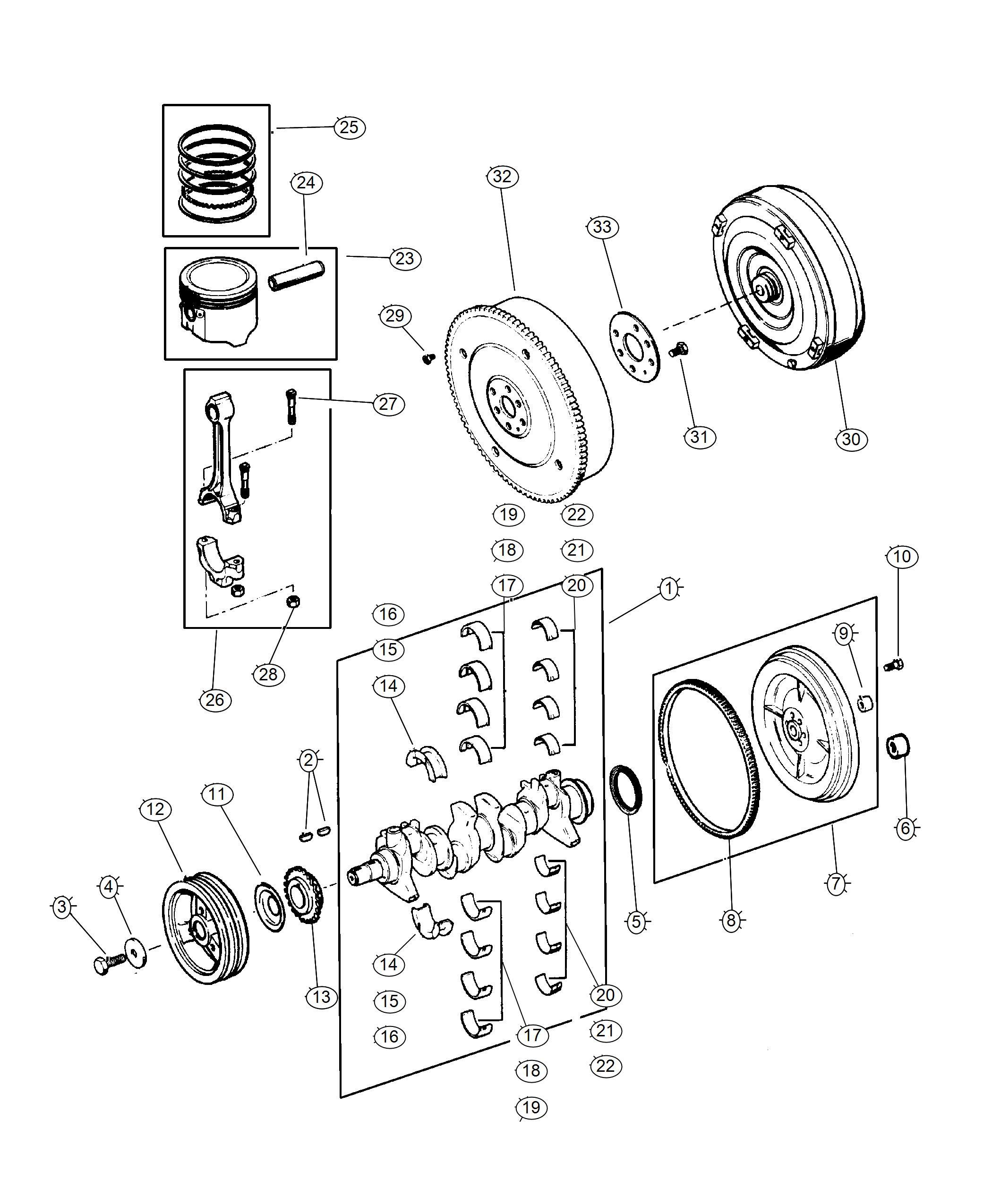 Dodge Grand Caravan Plate Torque Converter Drive