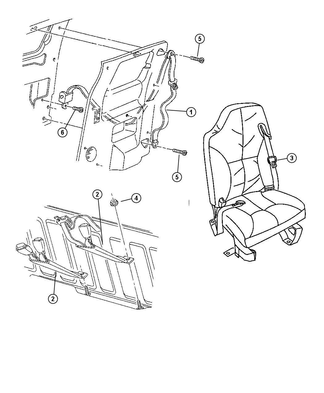 Jeep Cherokee Seat Belt Rear Outer Az C3 Agate