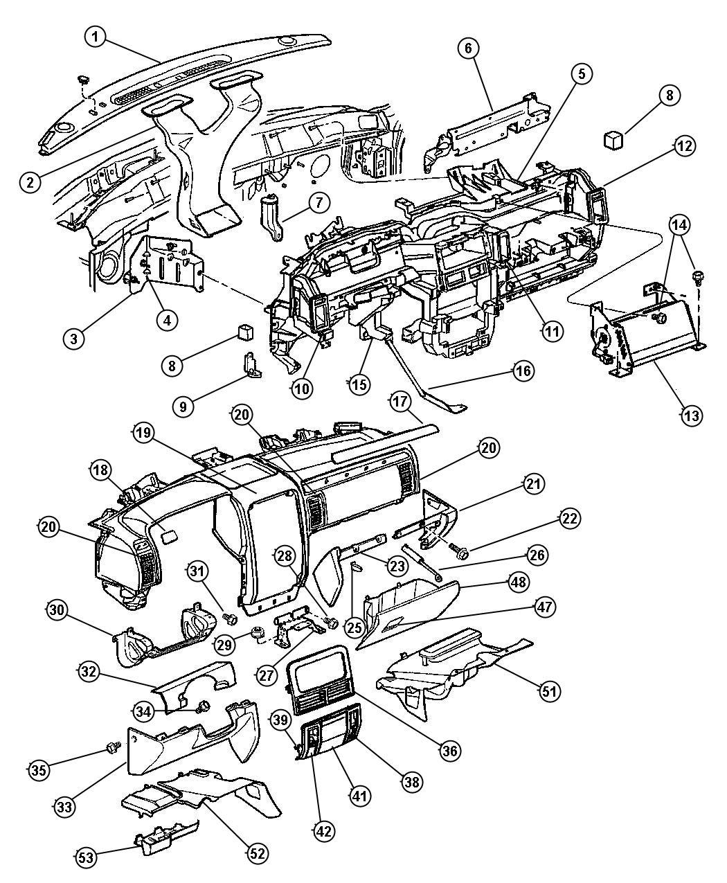 Dodge Sprinter Bracket Instrument Panel