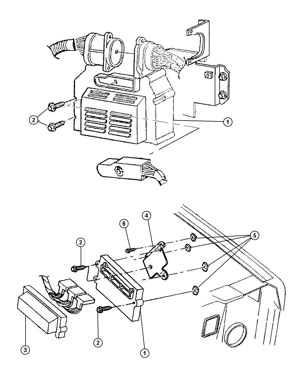 Jeep Liberty Bracket Module