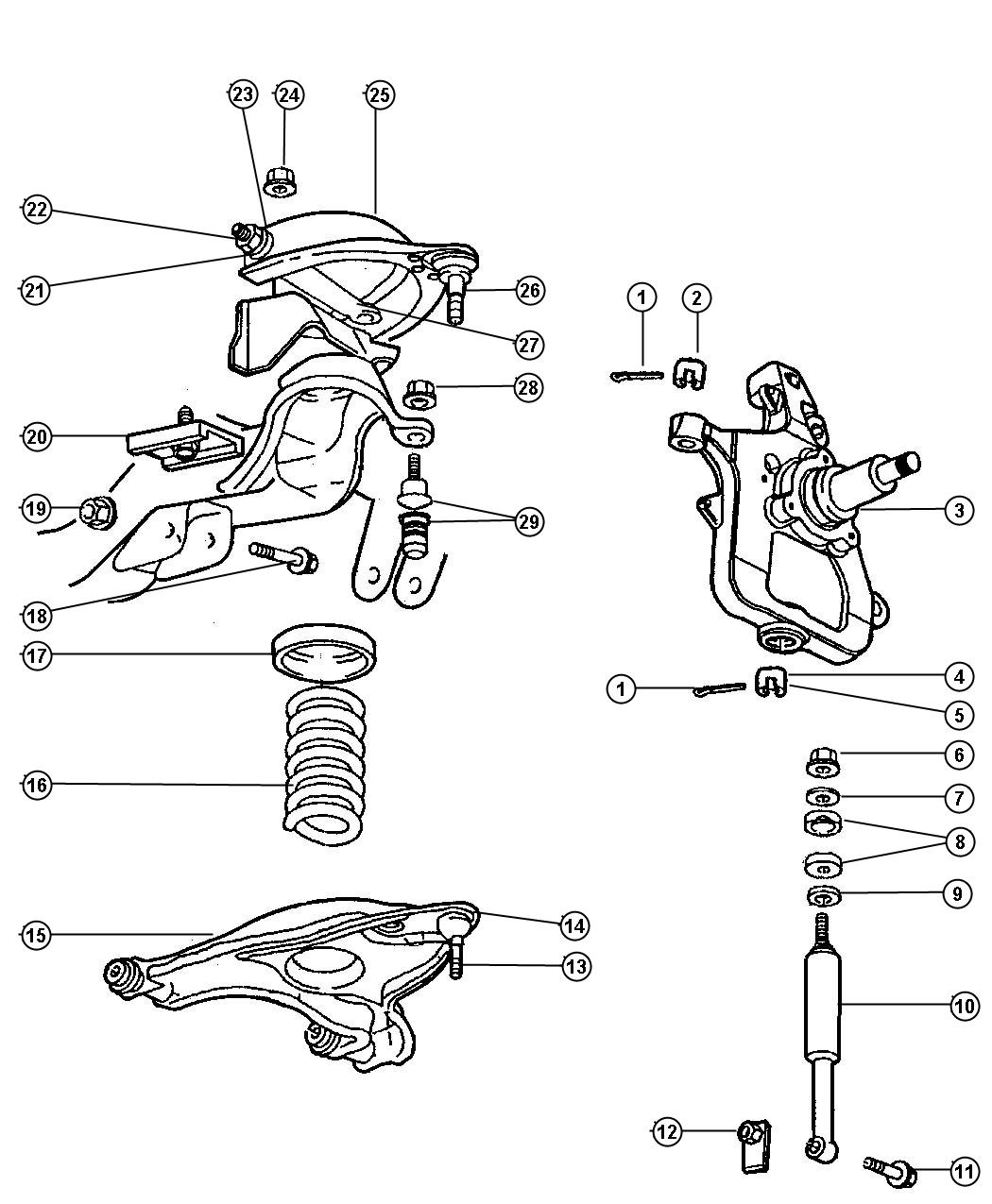 Dodge Ram Ball Joint Upper Control Arm Shocks Arms