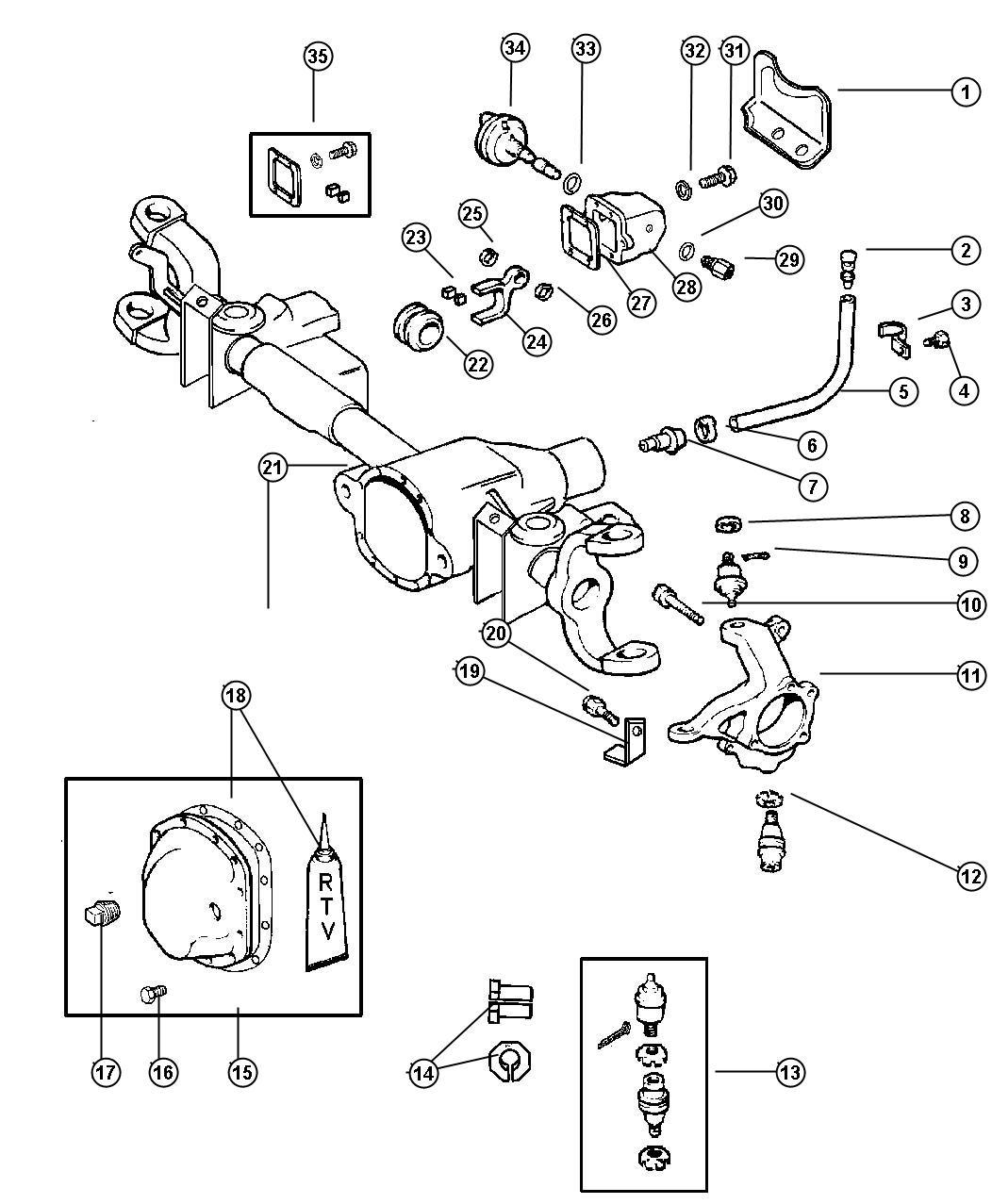 Dodge Ram Clip Axle Disconnect Fork Djf