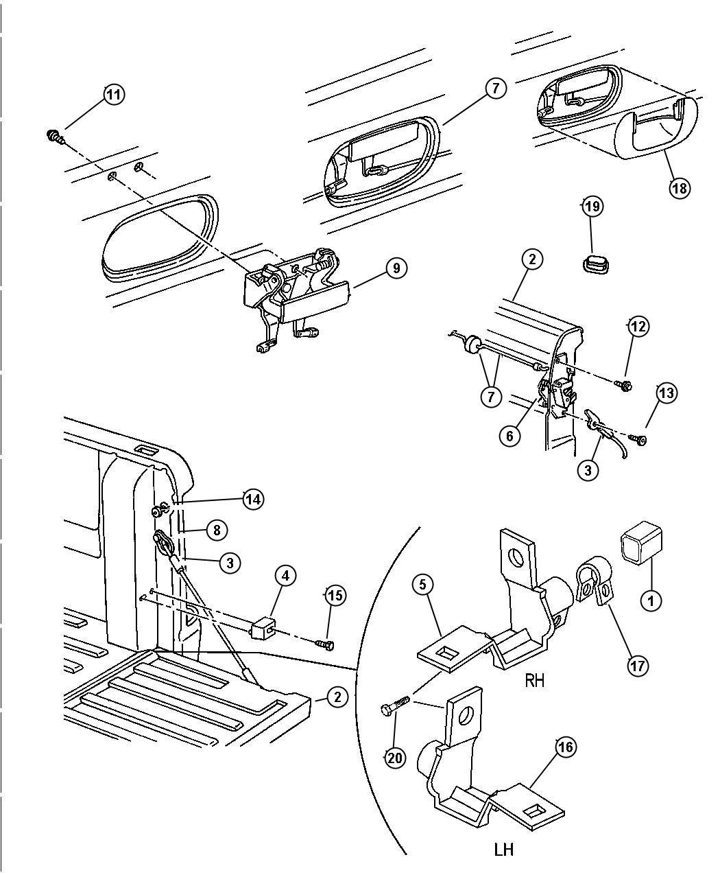 Dodge Ram Screw 312 18x3 00 Screw Tailgate