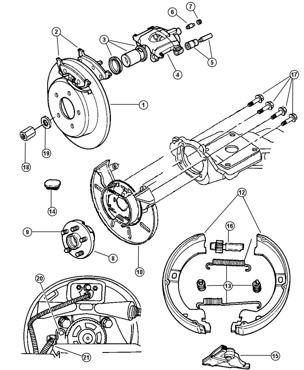 Dodge Grand Caravan Pad Kit Rear Disc Brake Mopar V