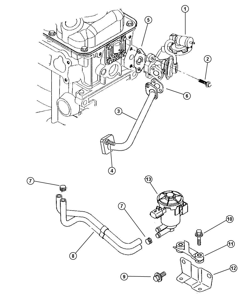 Dodge Ram Clip Fuel Vapor Tube Lx Lxi R