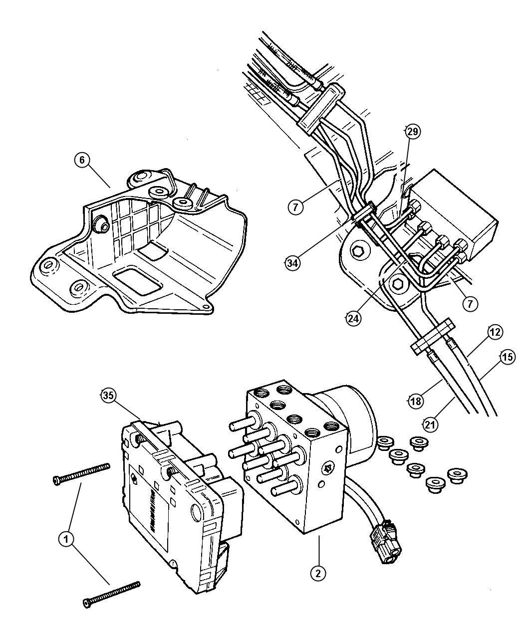 Dodge Ram Bolt Hydraulic Control Unit Mounting