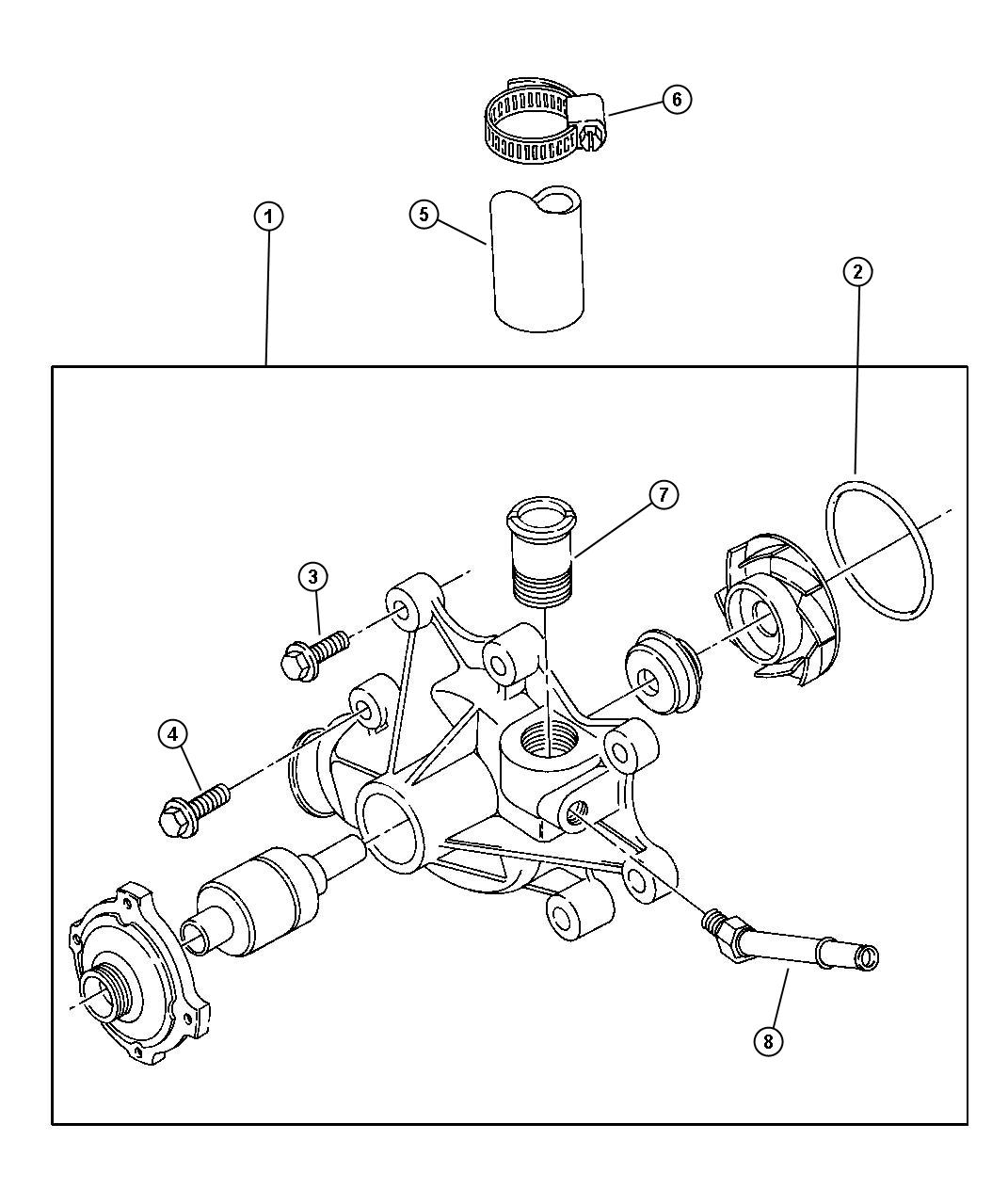 Dodge Ram Pump Water Engine Cooling Related
