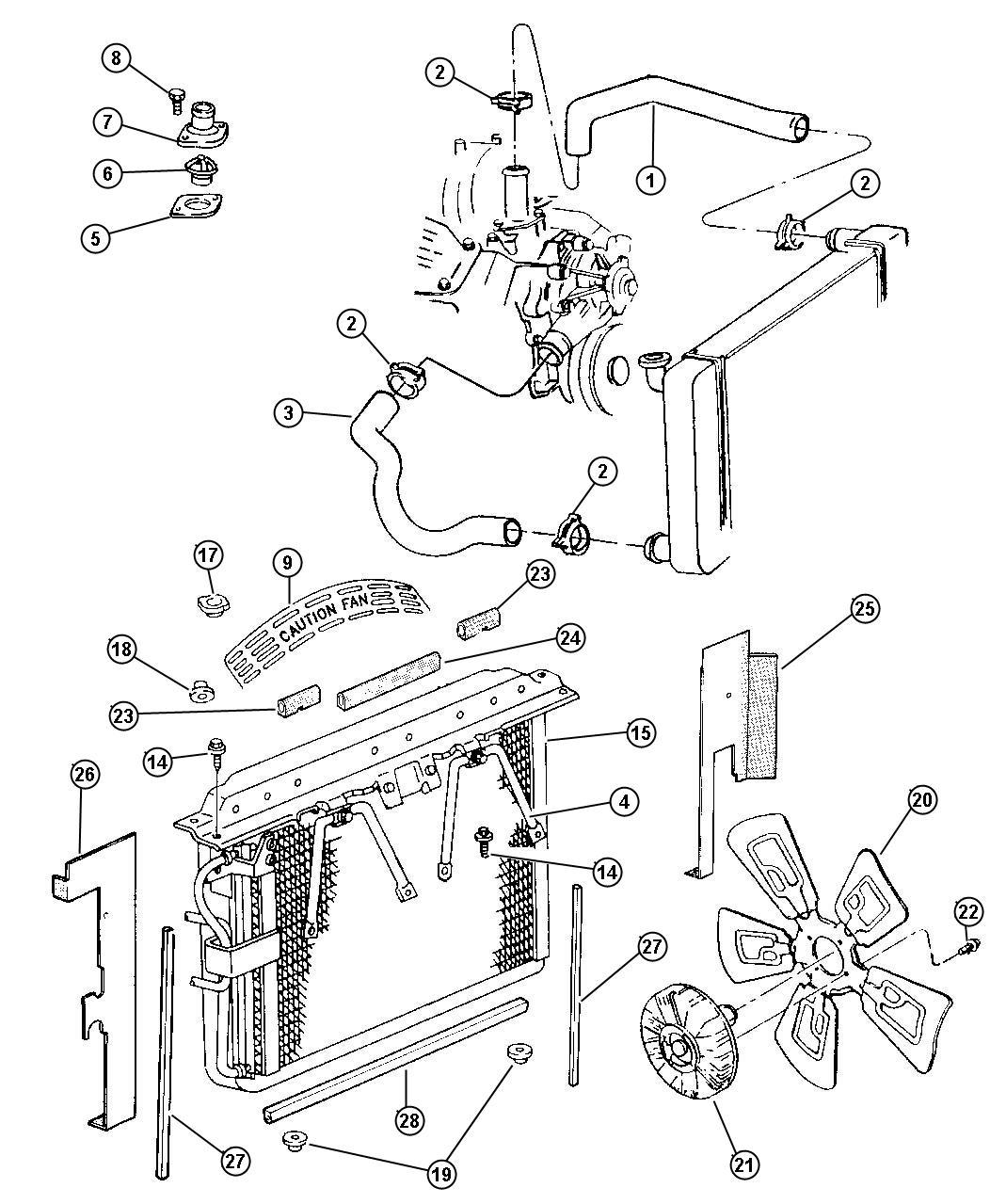 Dodge Ram Radiator Engine Cooling Magneti