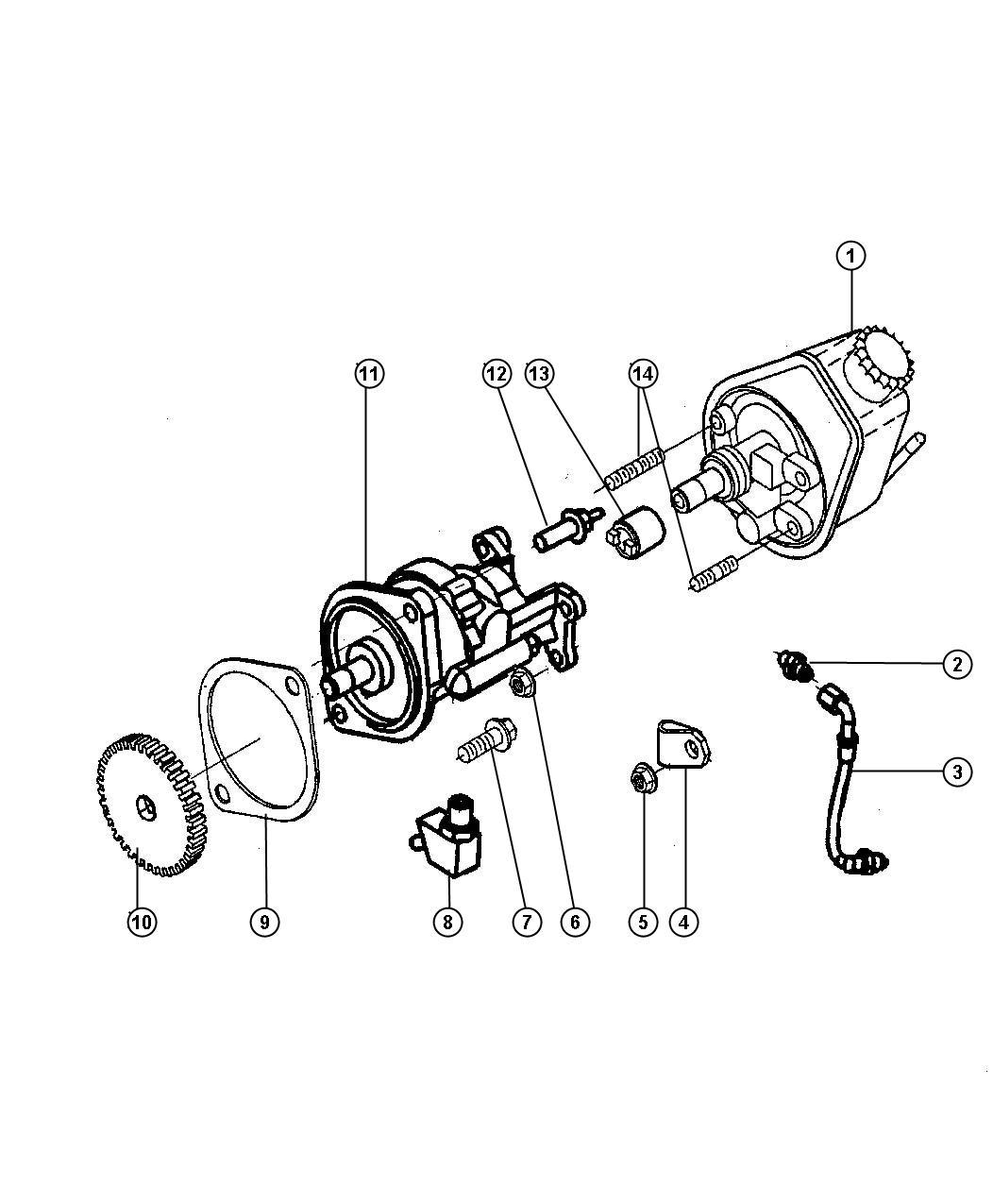 Dodge Ram Gasket Hydraulic Pump Etb Etc