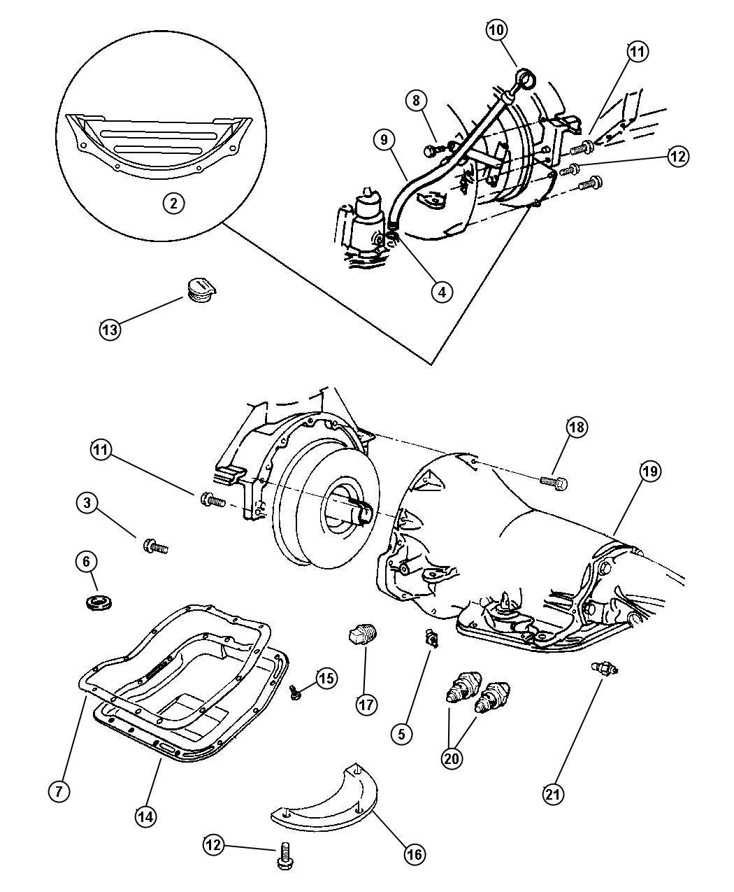 Dodge Ram 150 250 350 Connector Oil Cooler Tube Case