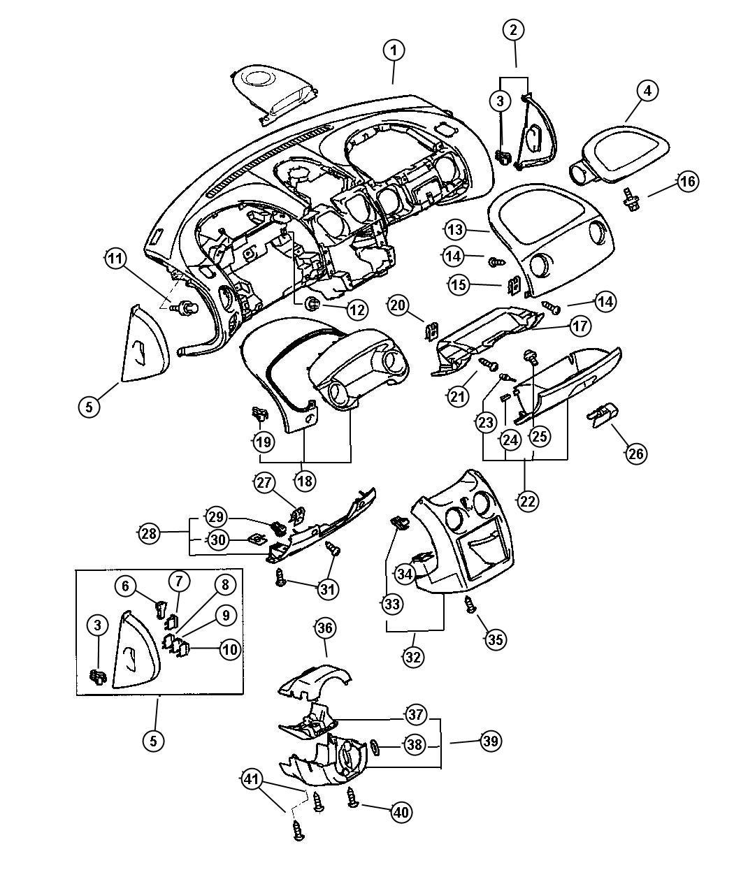 Dodge Stratus Air Bag Passenger Electrical