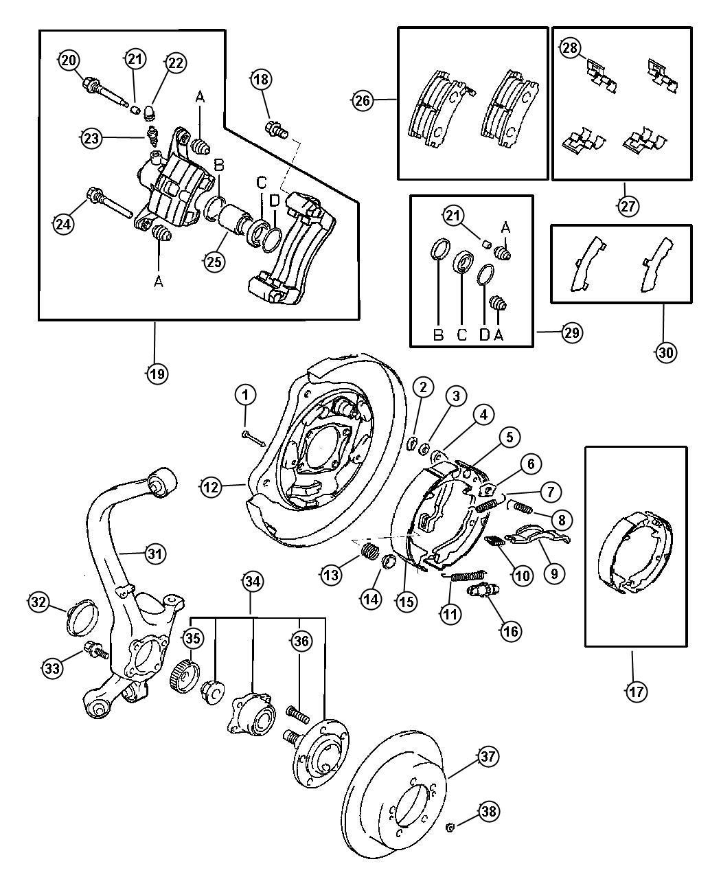 Chrysler Sebring Stud Hub Right Or Left