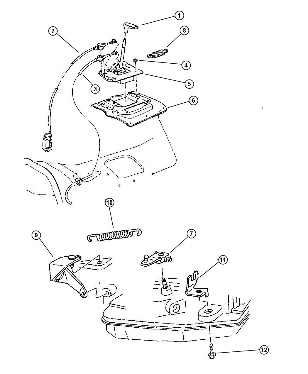 Dodge Stratus Cable Park Interlock Controls