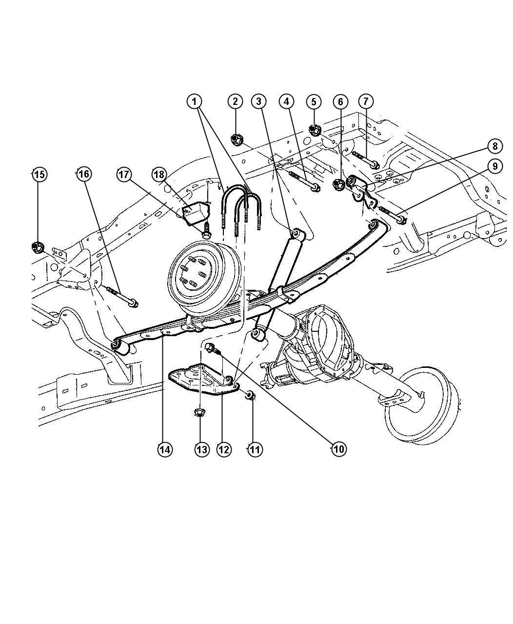 Dodge Durango Shackle Spring Hood Suspension