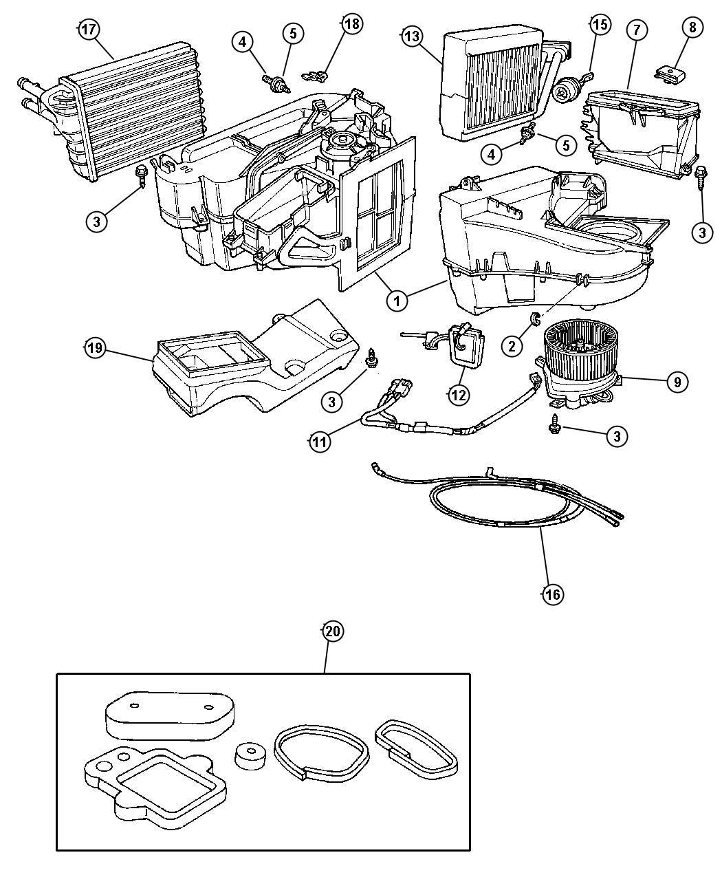 Chrysler Pt Cruiser Evaporator Air Conditioning