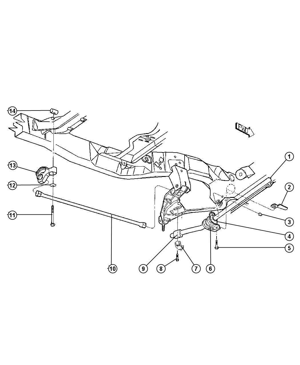 Dodge Ram Swivel Torsion Bar Rear Anchor Front