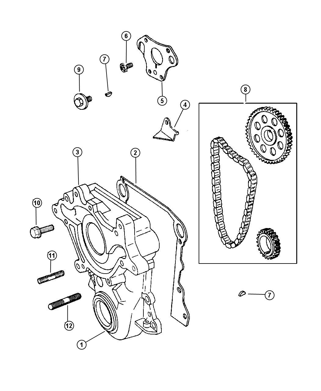Dodge Dakota Chain Package Timing Sprockets