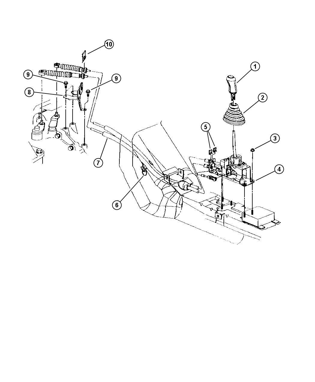 Dodge Stratus Shifter Transmission Rear Cylinder