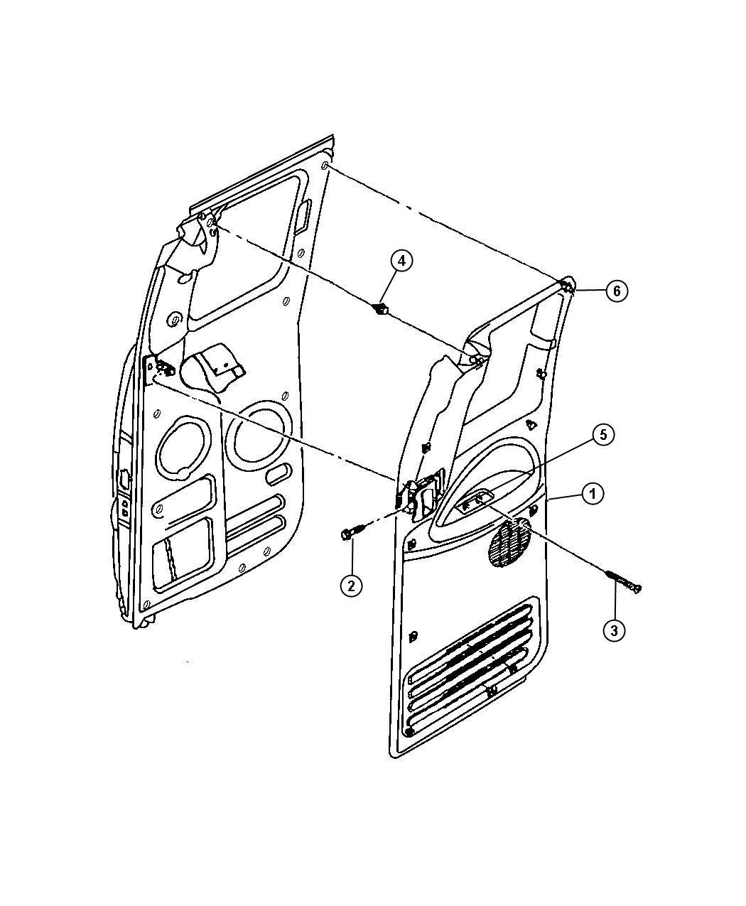 Dodge Grand Caravan Pin Door Panel Push With Power