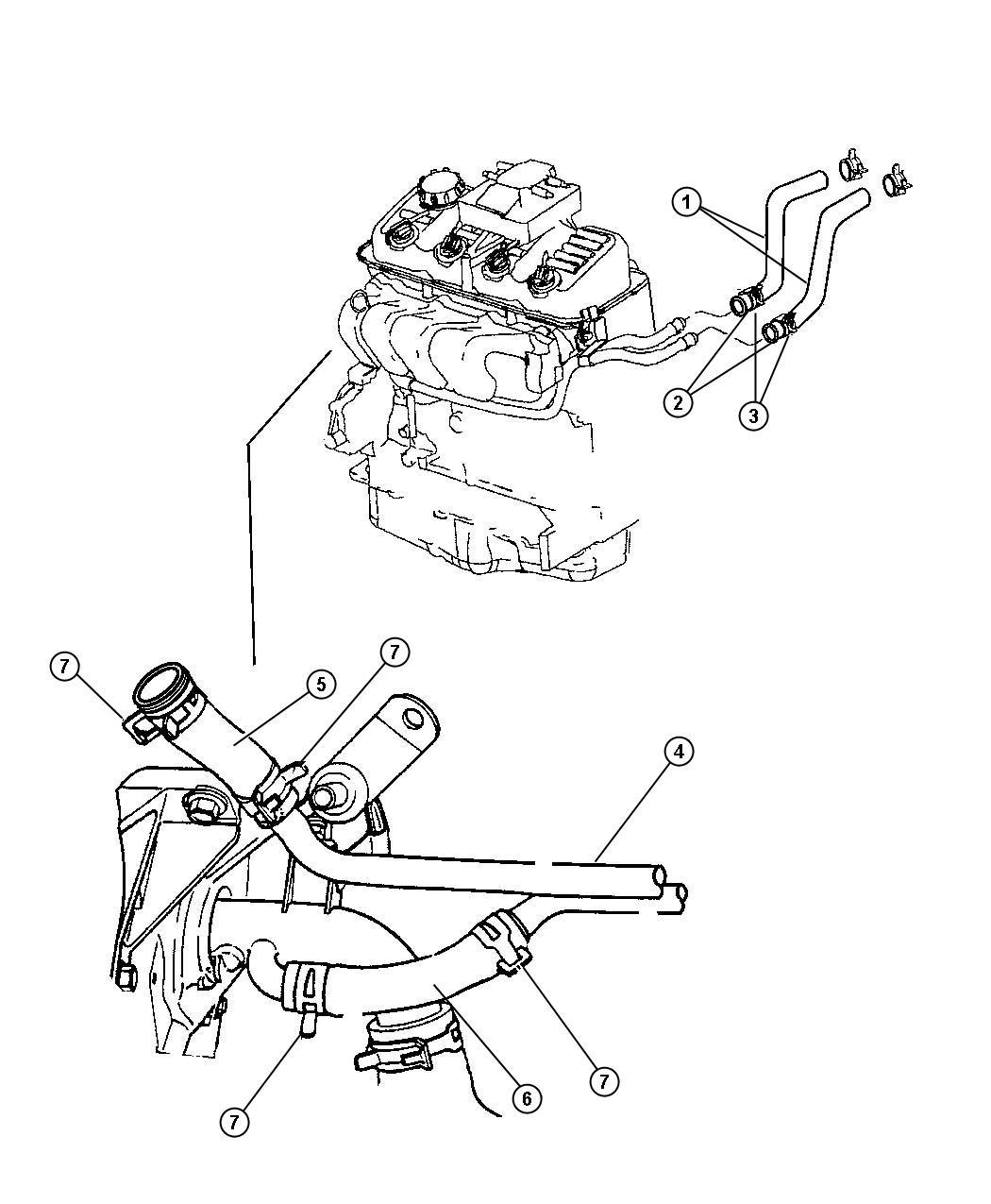 Dodge Nitro Tube Heater Core