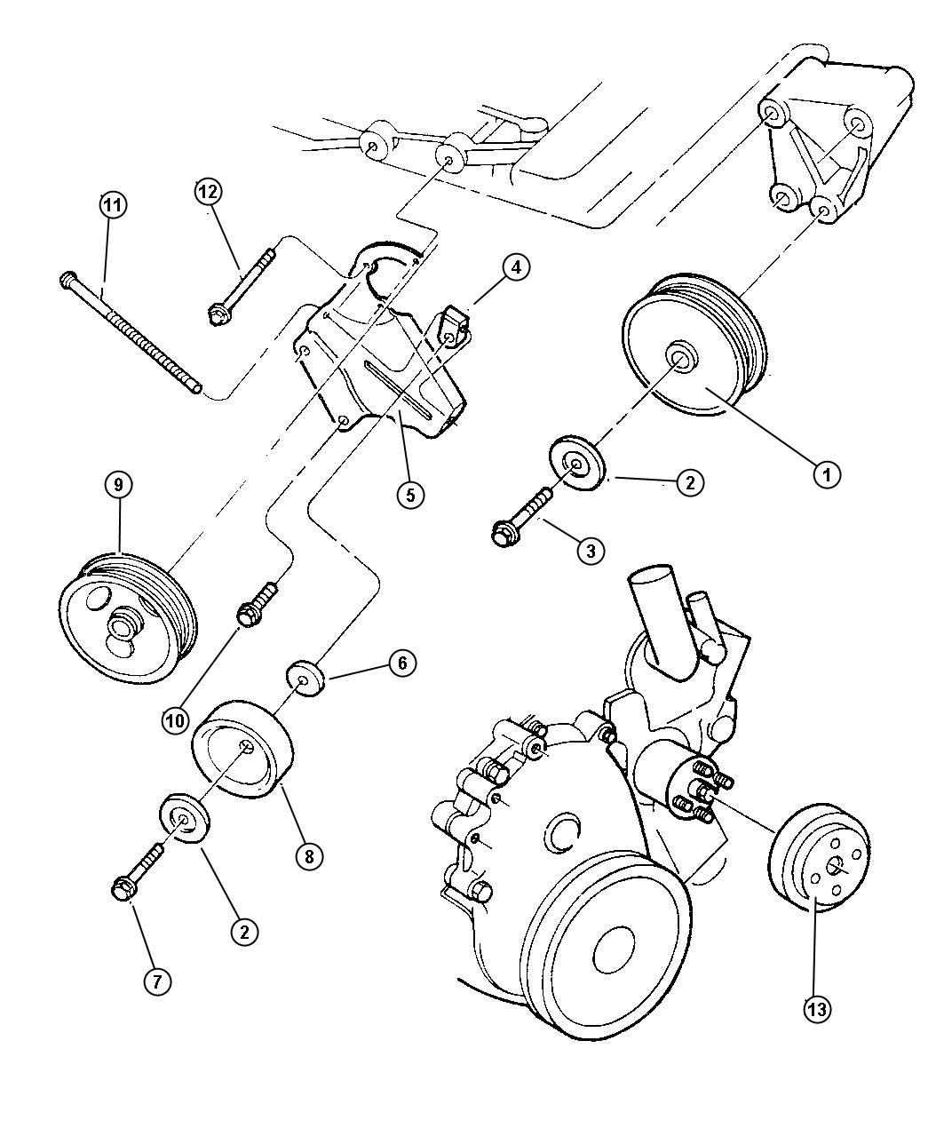 Jeep Wrangler Pulley Power Steering Pump