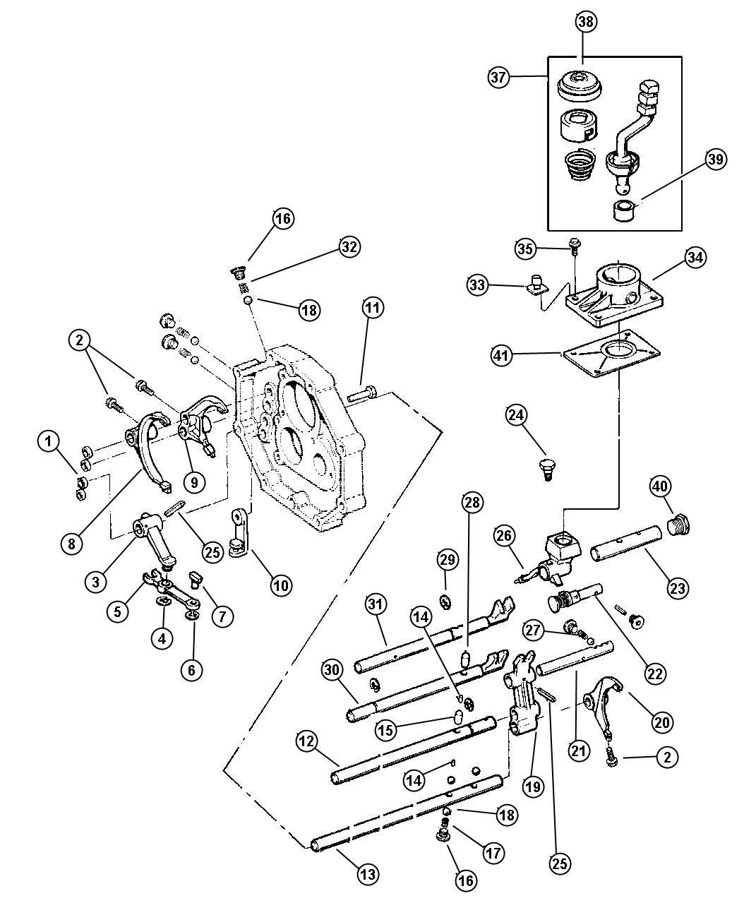 Jeep Wrangler Bushing Shift Lever Transmsission