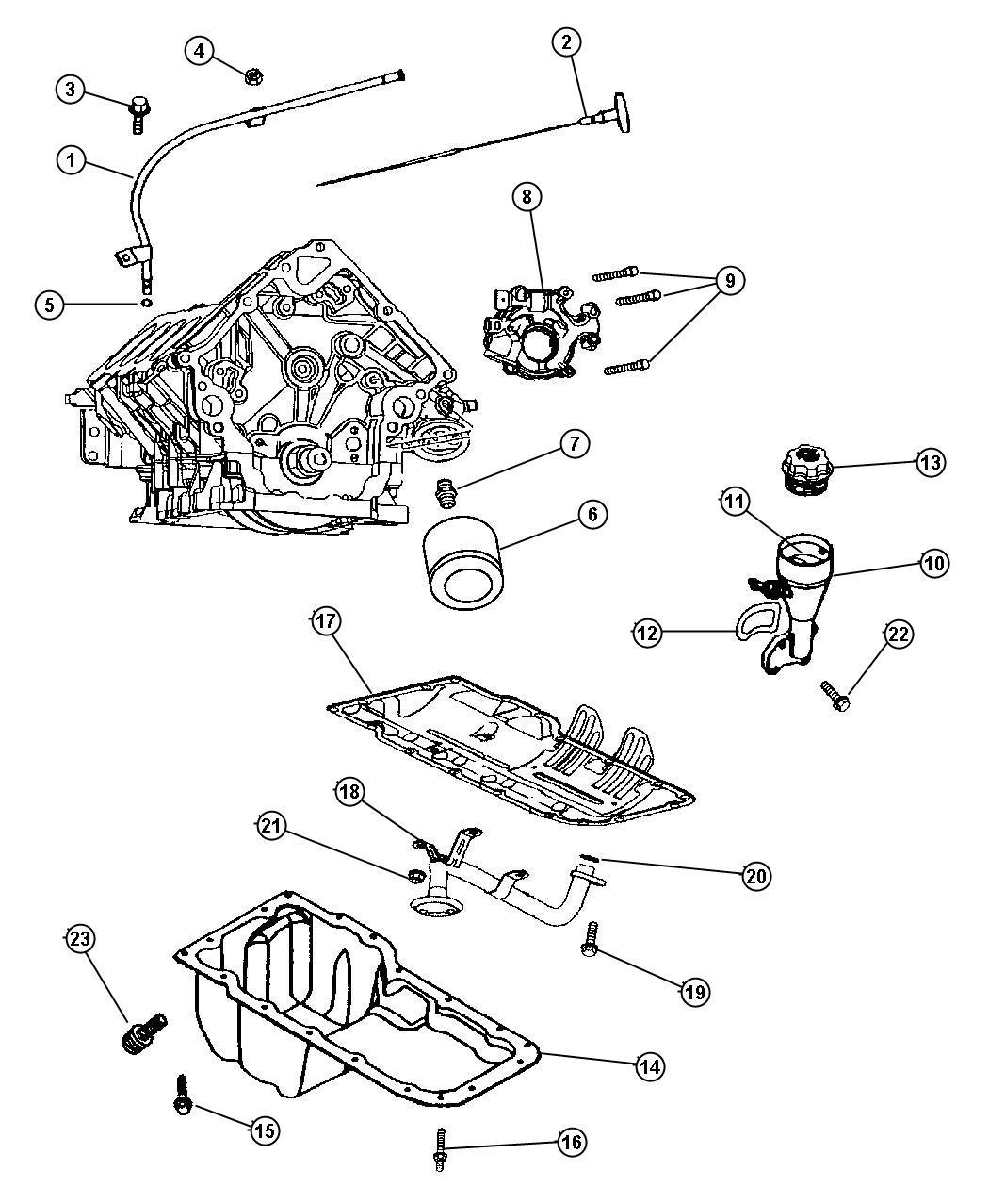 Jeep Grand Cherokee Filter Engine Oil Magneti Marelli