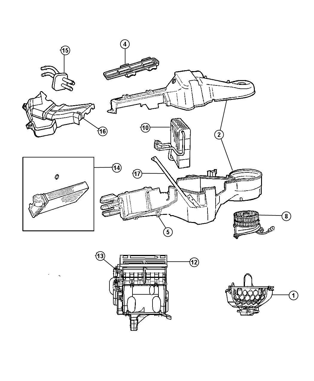 Jeep Liberty Housing Distribution Up To 07 09