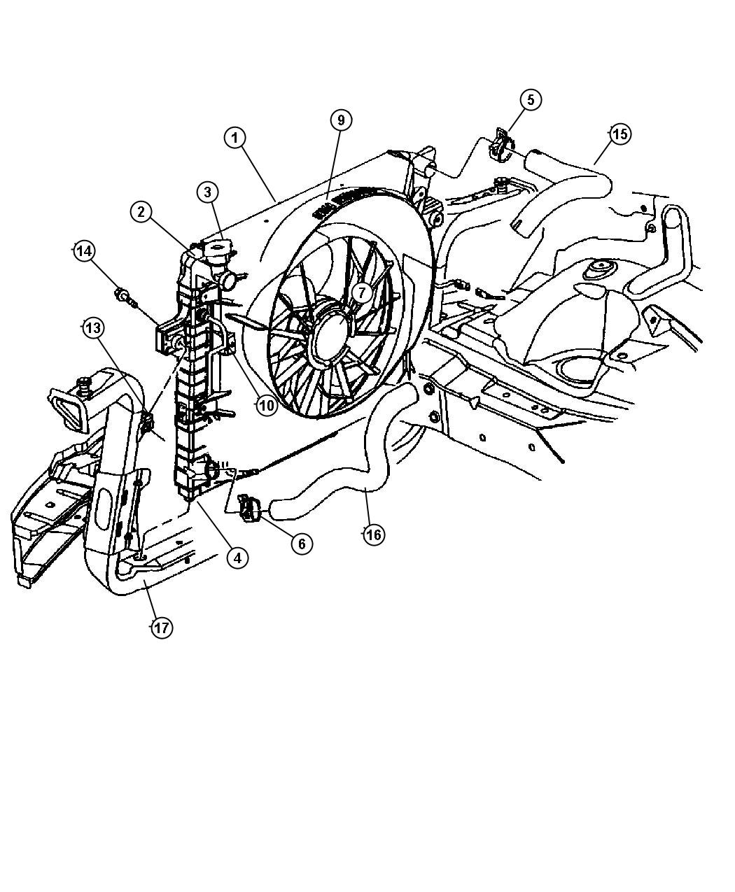 Dodge Ram Hose Radiator Inlet
