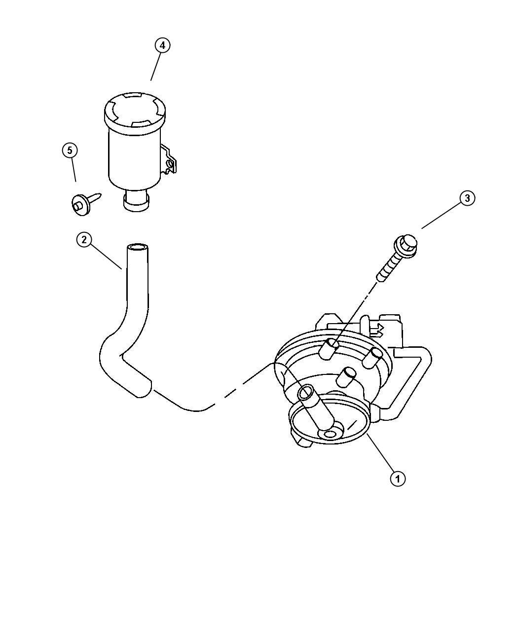 Dodge Durango Hose Leak Detection Pump Pump To Air