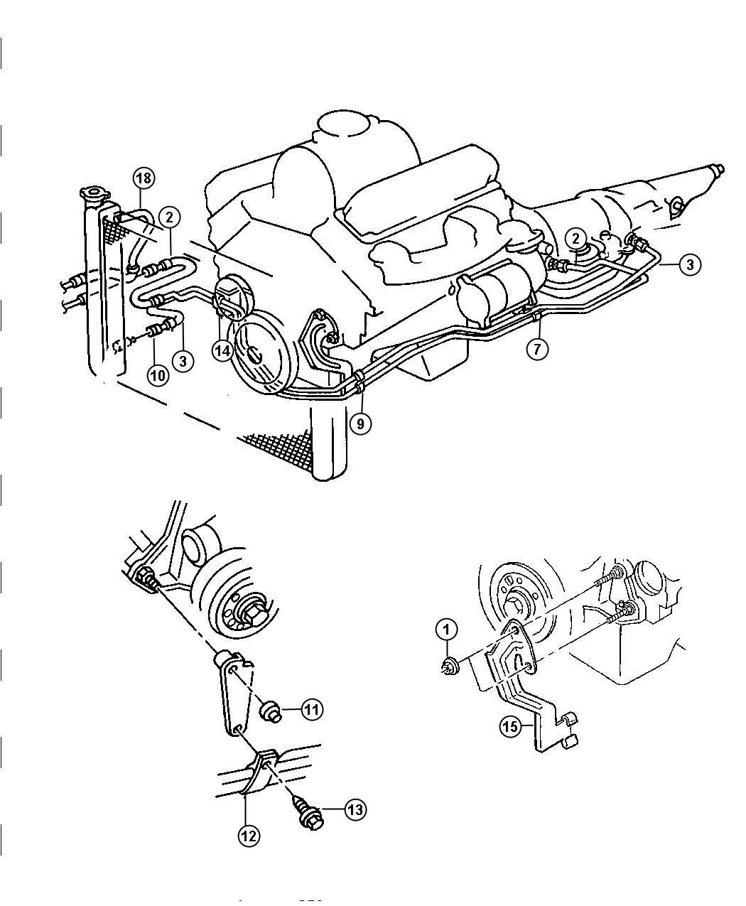 Dodge Ram Tube And Hose Pressure Oil Cooler